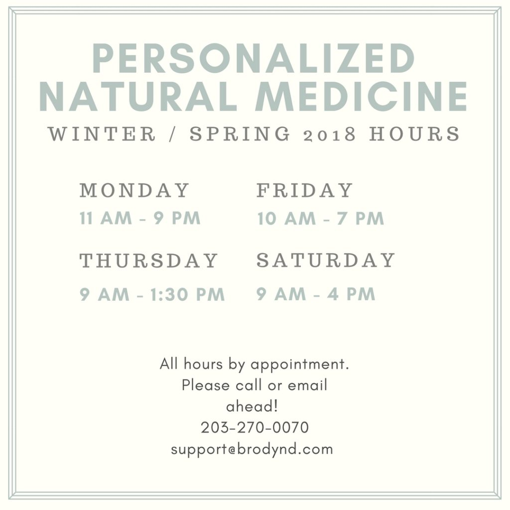 "<span class=""entry-title-primary"">2018 Personalized Natural Medicine Office Hours</span> <span class=""entry-subtitle"">Updated and Expanded Hours for the New Year</span>"